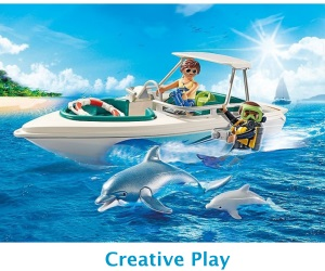 Playmobil boat dolphins