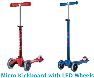 Micro Kickboard Scooters with LED wheels