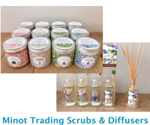 Minot Trading Company Scrubs and Diffusers