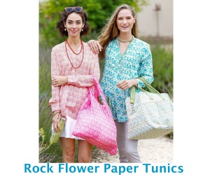 Rock Flower Paper Tunics
