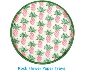 Rock Flower Paper Trays
