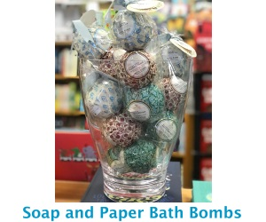 Soap and Paper Bath Bombs